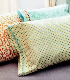 I will if you will: DIY pillow case I just love making pillowcases, and haven't for far too long! :)