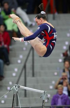 Beth Tweddle, member of the 2012 British Olympic team.