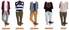 I love this new Old Navy capsule wardrobe for fall. It includes colored pants, stripes and even a shirt dotted with a fox!   This set has just 15 pieces  including 2 pairs of shoes. Plus Old Navy is so reasonable priced that you can buy it all and be set for all your fall casual looks!