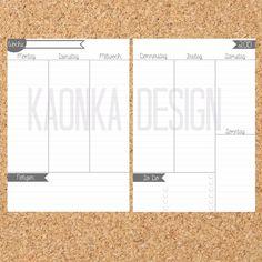 Filofax A5 Kalendereinlagen Printable von KaOnKa Design auf DaWanda.com
