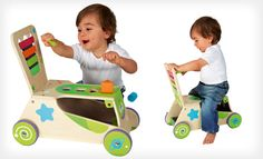 $62.99 for a Boikido Kids' Wooden 2-in-1 Walker and Ride-On ($98.99 List Price) . Free Shipping and Returns.