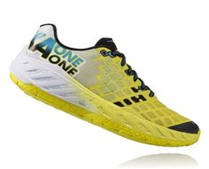 Buy Men's Hoka One One CLAYTON Road Running Shoes - Citrus / White for ultra runners from Ultramarathon Running Store Trail Running, Road Running, Runners Shoes, Ultra Marathon, Sport Wear, Sport Fashion, Footwear, Nike, Heels