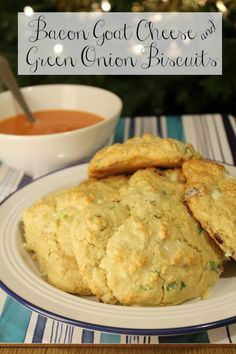 Tender drop biscuits loaded with bacon, goat cheese, and green onions is straight up comfort food awesomeness.