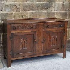 #C18th #style Carved Oak Dresser Base / Sideboard By #webber Furniture    Antique