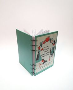 Vintage Book Journal Repurposed Book Blank Pages Handmade Notebook - 1957 It's Time For Thanksgiving on Etsy, $31.09 CAD