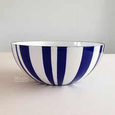 Cathrineholm Norway Blue Striped Enamel Medium 8 Bowl - SOLD!