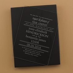 Clearly Marvelous - Acrylic Invitation and Box - Option 2