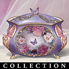 Porcelain Music Boxes | Lena Liu's Butterfly Collectible Music Box Collection! First-of-a-Kind ...