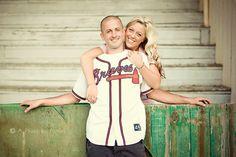 Baseball Engagement Session | North Carolina Inspired Wedding  | North Carolina Wedding | Winston-Salem, NC Wedding Photographer