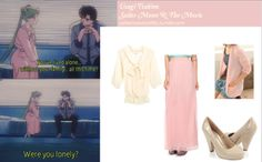 CatWorld draped-pocket shawl collar cardigan in Pink Forever 21 crepe chiffon maxi skirt in Pink Forever 21 glossy cone heels in Taupe Tokyo Fashion 3/4 sleeve tie-front chiffon blouse