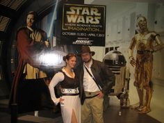 """Steampunk Leia and Indiana Jones at the Orlando Science Center's """"Science of Star Wars"""" exhibit. 2013"""