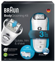 Braun Body Grooming Kit - 3 in 1 Epilate Trim and Shave for sale online Grooming Kit, Wet And Dry, Competition, Wednesday, Tuesday, Shower, Check, Giveaways