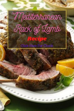 It's elegant. It's special. And it will have your guests thinking you went all out. They don't have to know how simple it is. #lambrecipe #mediterranean #food #recipes Lamb Recipes, Real Food Recipes, Healthy Recipes, Rack Of Lamb, Mediterranean Food, Eat Healthy, A Food, Paleo, Low Carb