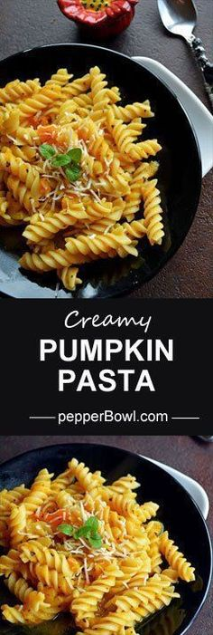 Pumpkin pasta sauce vegan, super healthy, guilt free recipe. The sauce made only with pumpkin pulp, perfect for busy dinners described with step by step pictures.