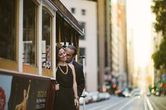 Cable car engagement // michael james photo