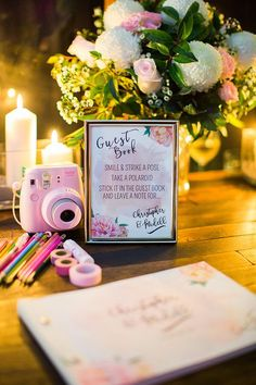 Polaroid wedding guest book station | Jazelle Venter Photography