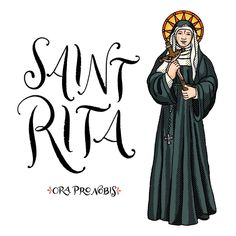 "Catholic Paper Goods on Instagram: ""St. Rita of Cascia, ora pro nobis!! . . . . . . . . . . #orapronobis #saints #catholicsaints #catholicfaith #catholiccoloringpages…"""