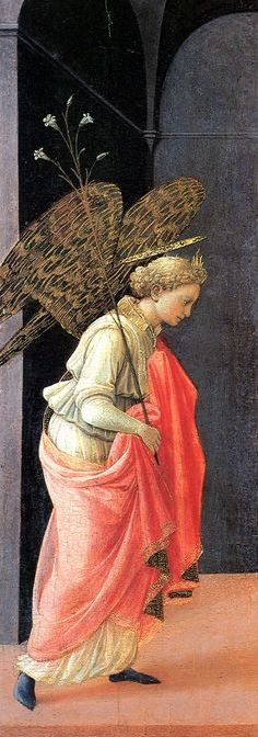 Fra Filippo Lippi | The Annunciation (left wing panel), 1430