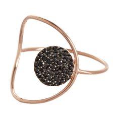 Black diamond circle ring.