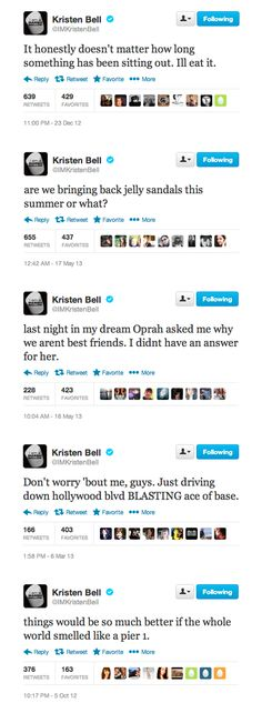 Kristen Bell's birthday is almost over, but that doesn't mean you can't still LOL over some of her best tweets!