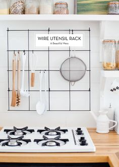 12 OCTOBER DIYS – Wire Utensil Rack