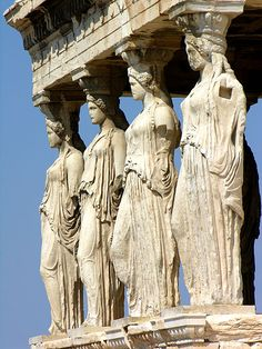 The Porch of the Caryatids a temple for the middle classical period of Greek art and architecture. The temple was built on the Acropolis of Temple and it represented sanctuaries to the Greek Gods Athena, Poseidon, and Erechtheus. Various attempts for restoration caused damage to the roof. One interesting fact about the statues is that they were moved to a museum and replaced by exact replicas.