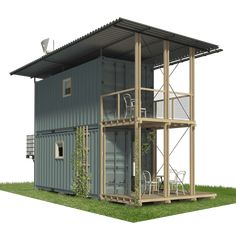 2 Story Shipping Container Home Plans Shipping Container Home Designs, Cargo Container Homes, Building A Container Home, Shipping Container House Plans, Storage Container Homes, Container House Design, Shipping Containers, Shipping Container Buildings, Container Store
