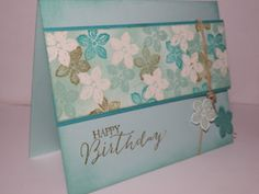 Yes, yes, I know, Petite Petals again but I just can't resist!! I used Pool Party and Bermuda Bay for the card. The ink is Pool Party, Ber...