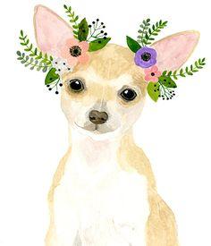 Acuarela chihuahua perro acuarela acuarela animales niños