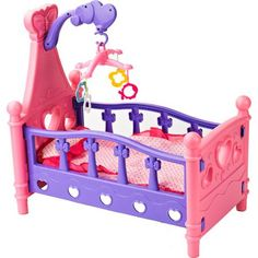 Badger Basket Hearts Doll Crib with Pillow, Blanket and Mobile Play Set - Walmart.com