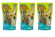 Fido Super Breath Dental Care Dog Bones with Chlorophyll - Mini 21ct (Pack of 3) ** New and awesome dog product awaits you, Read it now  : Dog Treats