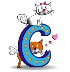 Alphabet latin — Wikimini, l'encyclopédie pour enfants Alphabet Latin, Images Alphabet, Letter C, Smurfs, Scrap, Cartoon, Kids, Animals, Fictional Characters