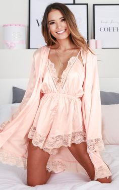 Create the ultimate intimate luxe look with our silky soft Bad Medicine robe, with its self-tie waist belt and lace trimmed hem and sleeves this is the ultimate outfit stunner to complete your sexy intimate look. Pair with some of our new Lingerie Satin Lingerie, Luxury Lingerie, Lingerie Sleepwear, Lingerie Set, Designer Lingerie, Nightwear, Teddy Lingerie, Seductive Lingerie, Classy Lingerie