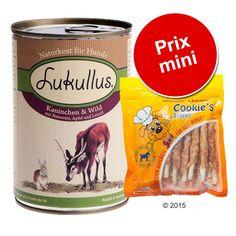 Animalerie  Lot de boîtes Lukullus 6 x 400 g  Cookies 200 g pour chien  lapin de garenne dinde