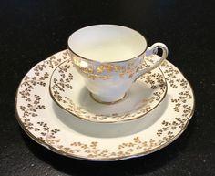 Royal Tara Bone China Tea Cup and Saucer and Dessert Plate   eBay