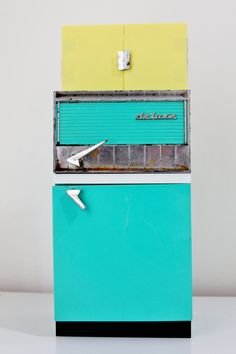 Vintage 1960's  Deluxe Reading Kitchen Refrigerator Dollhouse Kitchen by foundundertheeaves on Etsy