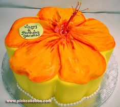 Hawaiian Happy Birthday Flower Cake Make cake decoration and cake baking easy with these cake tins.