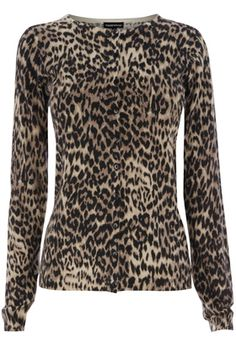 Animal Print Cardi: This cardigan is ideal for keeping you stylishly warm as the autumn/winter season approaches. Get yours now at:  http://www.warehouse.co.uk/animal-print-cardi/All/warehouse/fcp-product/309256