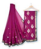Georgette Designer Saree - Dark Pink | Yepmeworld
