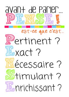 "I've been trying to ""THINK"" of a French version for a long time... aside from nécessaire, I had completely different things!"