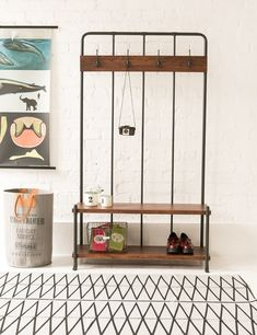 Reclaimed Hall Bench / Coat Rack at Rose & Grey - just bought this for our hallway. Hallway Furniture, Sofa Furniture, Kitchen Furniture, Hallway Coat Rack, Hallway Storage, Hall Storage Ideas, Storage Units, Bathroom Storage, Vintage Kitchen Accessories