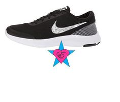 Women Swarovski Crystal Black White Nike Flex Experience RN 7 4b1940f32a01