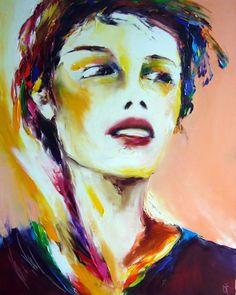 abricot - Peinture,  80x100 cm ©2007 par Christian Vey -