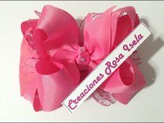 Tiara con moño boutique doble VIDEO No.505      Creaciones Rosa Isela - YouTube