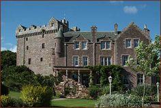 Comlongon Castle is a restored 14th century Medieval Scottish Castle