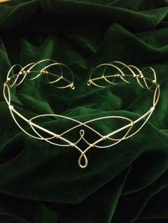 Silver Plated Elven Celtic Faerie Medieval Renaissance Circlet Lotr Hobbit Tiara