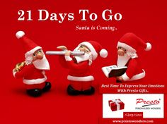 Countdown Begins!! Christmas is just around the corner... Santa is coming.... It's Time To Express Your Emotions With Presto Gifts.. Express your emotions with #PrestoPersonalizedGifts...  Shop Online #Presto Personalized Gifts From-www.prestowonders.com   #personalizedgifts #prestogifts #gifts #giftideas #moment #happymoments #Christmas #happyChristmas #santa #santaclause