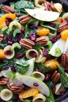 Looking for Fast & Easy Appetizer Recipes, Fall / Halloween Recipes, Pasta Recipes, Side Dish Recipes, Vegetarian Recipes! Recipechart has over free recipes for you to browse. Find more recipes like Autumn Crunch Pasta Salad. Pasta Salad Recipes, Healthy Salad Recipes, Vegetarian Recipes, Cooking Recipes, Savory Salads, Meat Recipes, Salad Bar, Soup And Salad, Appetizer Recipes