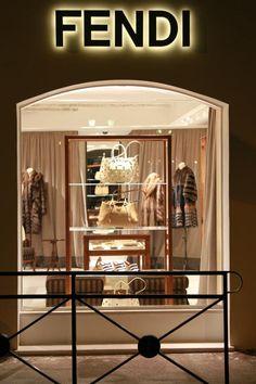 boutiqu, shop, window, style, fendi store