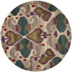 @Overstock - The deco rugs were made with museum inspired designs and handcrafted using the highest quality material available. This hand-tufted rug offers luxurious comfort and modern style.http://www.overstock.com/Home-Garden/Handmade-Reflections-Ivory-New-Zealand-Wool-Rug-7-Round/6706748/product.html?CID=214117 $221.39
